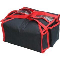 Lämmitettävä pizzankuljetuslaukku pizzalaatikoille.